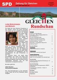 Gleichen Rundschau 11.2012 - SPD Ortsverein Gleichen