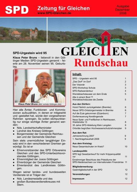 Gleichen Rundschau 12.2008 - SPD Ortsverein Gleichen