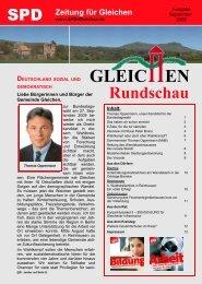 Gleichen Rundschau 09.2009 - SPD Ortsverein Gleichen