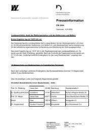 Presseinfo - Landeswahlleiter - SPD Ortsverein Gleichen