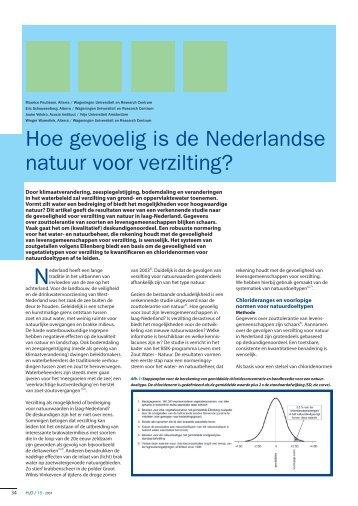 Hoe gevoelig is de Nederlandse natuur voor verzilting? - Acacia Water
