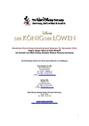 Deutscher Kino & Home Entert Regie - Walt Disney Studios Motion ...