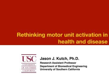 Presentation slides (in pdf) - University of Southern California