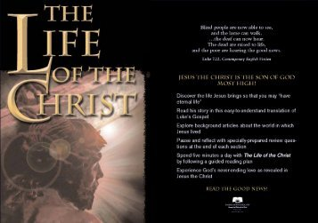 The Life of the Christ - ForMinistry