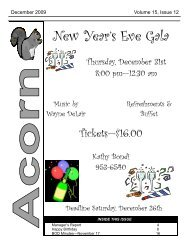 New Year's Eve Gala - Oakwood Manor Homeowners Association