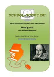 Quiz: William Shakespeare - Lehrer bei School-Scout
