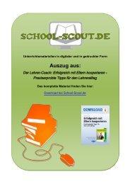 Der Lehrer-Coach: Erfolgreich mit Eltern kooperieren ... - School-Scout