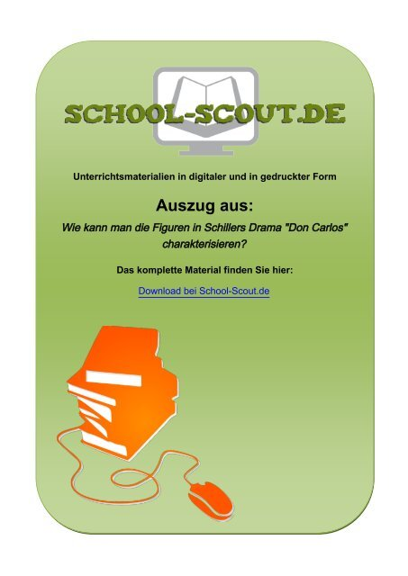"Wie kann man die Figuren in Schillers Drama ""Don ... - School-Scout"