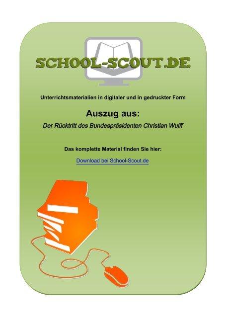 Der Rücktritt des Bundespräsidenten Christian Wulff - Lehrer bei ...