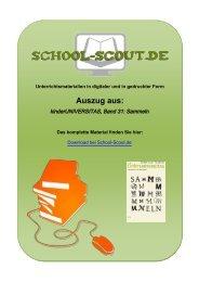 kinderUNIVERSITAS, Band 31: Sammeln - School-Scout