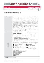 Deutsch / Lesen - Neue Unterrichtshilfen für Lehrer und Schüler