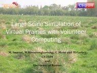 Large Scale Simulation of Virtual Prairies with Volunteer Computing