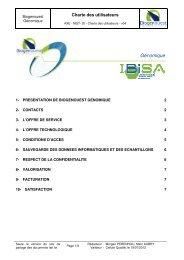 Charte des utilisateurs - Ecobio