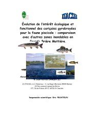 Évolution de l'intérêt écologique et fonctionnel des cariçaies ...