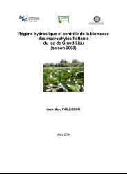 Régime hydraulique et contrôle de la biomasse des ... - Ecobio