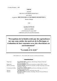 N° ordre de la thèse - Ecobio - Université de Rennes 1