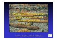 Populations et communautés Analyses multivariées des ... - Ecobio
