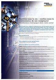confiez-nous la maintenance de vos compteurs! - Aquametro AG