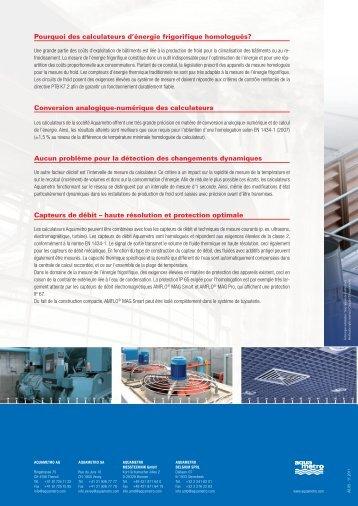 CALEC® et AMFLO - Aquametro AG
