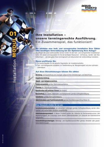 Ihre Installation – unsere termingerechte Ausführung. - Aquametro AG