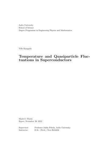 Temperature and Quasiparticle Fluctuations in Superconductors