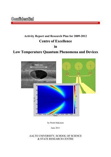 Centre of Excellence in Low Temperature Quantum Phenomena . ae5b41bf0dc42