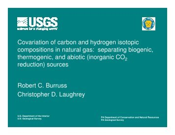 Covariation of carbon and hydrogen isotopic compositions in natural ...