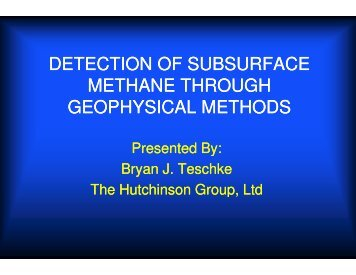 Detection of subsurface methane through geophysical methods