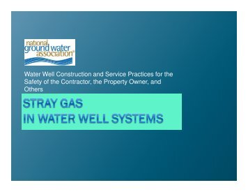 Water Well Construction and Service Practices for the Safety of the ...