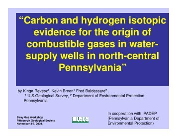 Carbon and hydrogen isotopic evidence for the origin of combustible ...