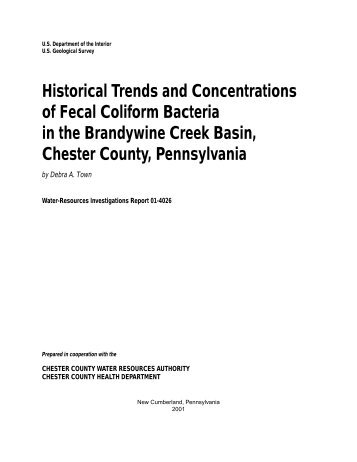 Historical Trends and Concentrations of Fecal Coliform Bacteria in ...