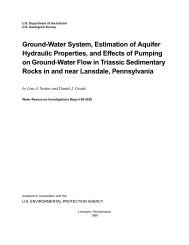 Ground-Water System, Estimation of Aquifer Hydraulic Properties ...