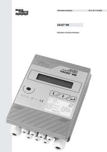 CALEC® MB - Aquametro AG