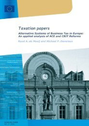 Alternative Systems of Business Tax in Europe - European ...