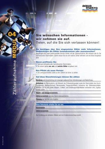 Sie wünschen Informationen - wir nehmen sie auf. - Aquametro AG