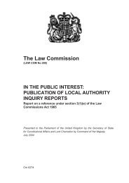 Publication of Local Authority Reports - Law Commission