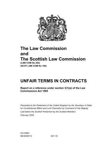 Unfair Terms in the Contracts and Exclusion of Liabilities - Essay Example