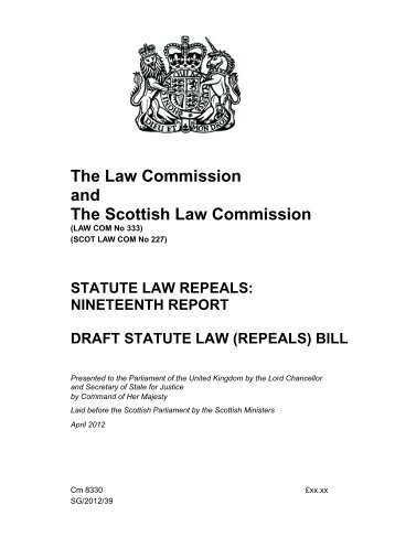 Statute Law Repeals - Law Commission - Ministry of Justice