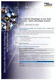 Décompte des frais de chauffage et des frais annexes - Aquametro AG