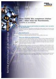 Vous voulez des compteurs étalon- nés - Aquametro AG