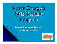 Austin Energy's Solar Rebate Program