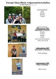 Aufgussmeister 2007 Mannschaft - Aquana