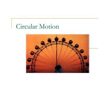 Worksheet: Acceleration for Uniform Circular Motion