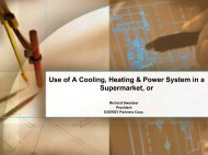Use of a Cooling, Heating, and Power System in a Supermarket