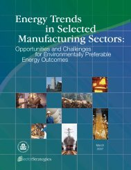 Energy Trends in Selected Manufacturing Sectors - US ...
