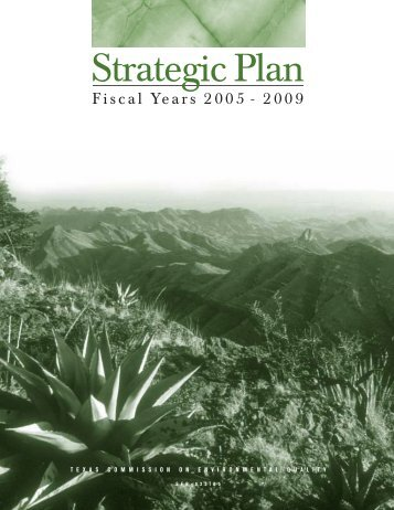 Texas Commission on Environmental Quality Strategic Plan Fiscal ...