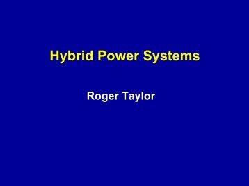 Hybrid Power Systems