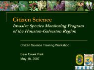 Invasive Species - Houston Advanced Research Center