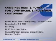 combined heat & power for commercial & industrial customers