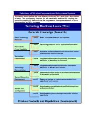 Technology Readiness Levels (TRLs) Generate Knowledge ...